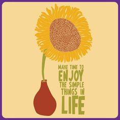Um girassol para atrair felicidade