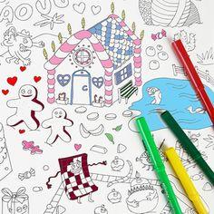 Un bloc de 25 sets de tables à colorier et à encadrer pour occuper les enfants pendant les goûters d'anniversaire. A mettre sur la table ou à détourner en atelier. Les dessins ont été fait par la talentueux duo OMY, ils regorgent de détails rigolos. Les enfants et les parents les adorent ! 6 dessins différents à découvrir. De quoi s'amuser pendant des heures! Chaque set a la taille d'un A3 : Format 30 x 40 cm. Imprimé sur papier recyclé.