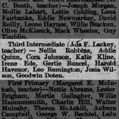 Reno Gazette-Journal, 6 Mar 1889, Wed, Main Edition  Gertrude Buncel (Gertie) makes honor roll