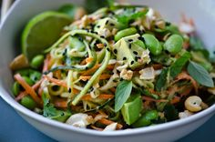 BLISS - blissful eats with tina jeffers: Thai peanut zucchini noodles