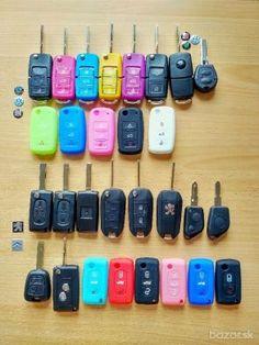 Náhradný obal kľúča, obal na autokľúč, rôzne značky