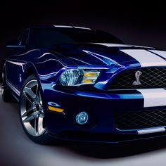 Blue Ford Shelby---one nice beauty!!