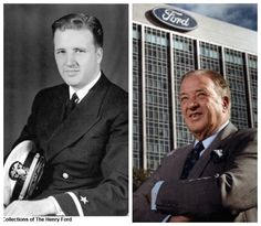 Henry Ford II-Navy-WW2-served 2 years-Lieutenant-requested sea duty but his Father's death required that he leave the Navy to assume control of Ford Motor Co. The Secretary of the Navy requested he leave (FORD MOTOR CO/Industrialist)