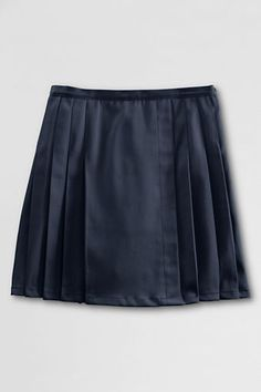 Land's End School Uniform Pleated Twill Skort