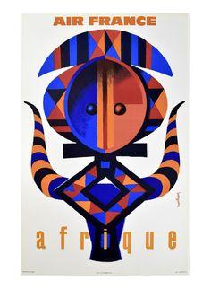 """Affiche """" Air France -  Afrique """" via Goodmoods"""