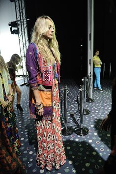 Bohemian babe. Bright embroidered boho coat with coin detail over a pretty crinkled peach summer maxi. Stunning colours, gorgeous textures.