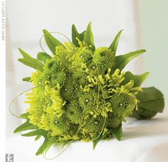 Amazing green bouquet with grass accents