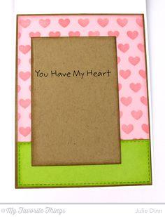 PI Heart Banner Card by Julie Dinn