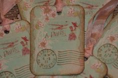 Fly away to Paris gift cards/tags - by GreenAcresCottage