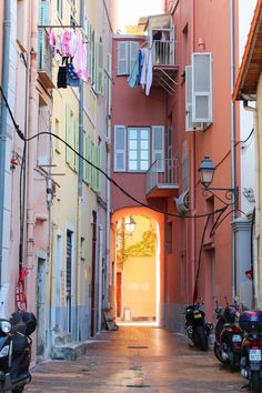 Streets of Menton, France