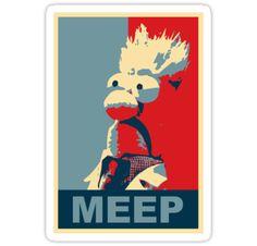The Meep (Muppet Propaganda) I love James Hance's work.