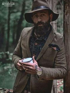 ERHAN OLUK / EXPLORE COUNTRY / PHOTOGRAPHY : BEYHANOLUKPHOTOGRAPHER #hat #chapeau #commeuncamion #mode #fashion #guide #look #style #menswear #mensstyle #beard #forest #foret