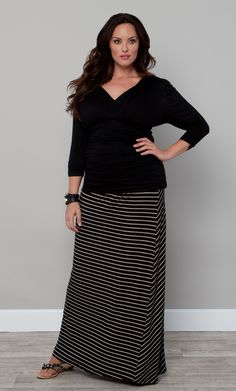 2-in-1, stylish and oh-so comfortable, our plus size Chameleon Convertible Skirt and Dress is a great deal!  www.kiyonna.com  #KiyonnaPlusYou  #MadeintheUSA  #Maxi