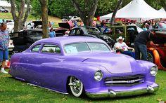1951 Mercury coupe - lead sled - light purple metallic -fvr by Pat Durkin - Orange County, CA, via Flickr
