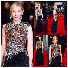 Ela,sempre ela...A belíssima,irretocável,pura elegancia,Cate Blanchett,vestida de World Mcqueen,no evento BAFTA Awards(Academia Britânica de Artes do Cinema e TV),considerada o Oscar britanico!!!Não teve prá ninguém