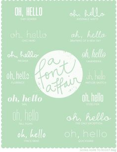 it's been quite a while since my last font affair (almost a year!), so i definitely wanted to share with you a few fonts i've been loving lately. do you have any favorite fonts? Typography Love, Typography Letters, Hand Lettering, Pretty Fonts, Beautiful Fonts, Hello Beautiful, Fancy Fonts, Cool Fonts, Social Media Tips