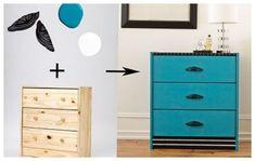 A plain flat-pack dresser gets a vintage-hardware-fueled redo. This Old House, Ikea Makeover, Furniture Makeover, Deco Furniture, Cabinet Furniture, Upcycled Furniture, Ikea Dresser Hack, Ikea Nightstand, Azul Vintage