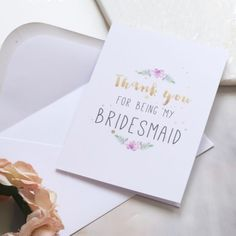Bridesmaid card, the perfect way to say thank you!
