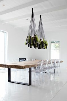 1000 ideas about chaise salle a manger on pinterest for Table a manger transparente