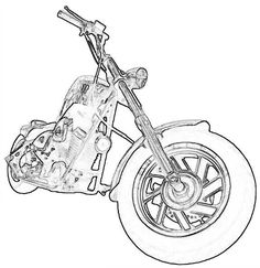Free Wood-Burning Patterns | Make a Gift for Father's Day Motorcycle and Bicycle wood project