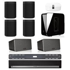 Sonos PLAYBAR Multi-Room Home Theater System with ONE (Se... Sonos Speakers, Home Theater, Play, Room, Bedroom, Home Theaters, Rooms, Home Theatre, Rum