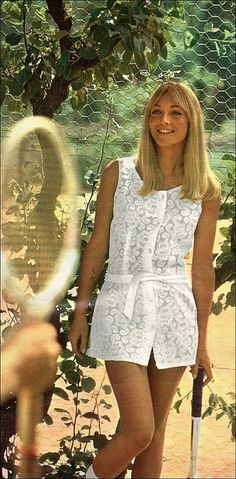 1960s-mini lace tennis dress   #tennis #ausopen   Australian Open Tennis