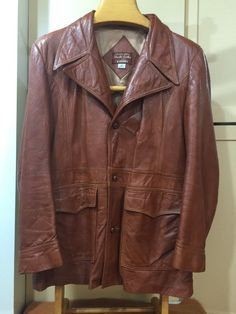 Cabretta Angel Skin Leather by Grais Brown Leather Jacket Size 44 Regular | eBay