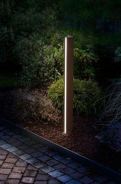 Paletto luminoso da giardino illuminato da Power LED di ultima generazione pensato per illuminazione esterna a led, illuminazione giardino o vialetto