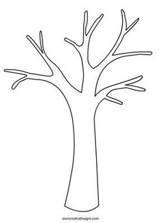Tree Without Leaves Template. bare tree template cliparts co. Autumn Crafts, Fall Crafts For Kids, Autumn Art, Autumn Theme, Spring Crafts, Art For Kids, Kids Diy, Tree Templates, Leaf Template