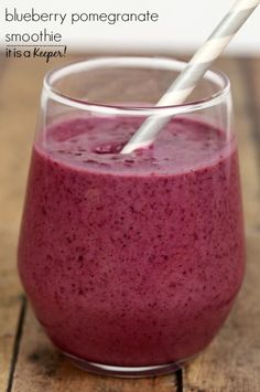 Blueberry Pomegranate Smoothie – a healthy and delicious smoothie reci