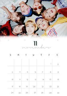 Bts Calendar, Calendar 2019 Printable, Kpop Logos, Kpop Diy, Planner, Bts Pictures, Namjoon, Free Printables, Bullet