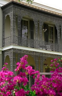 """New Orleans - Garden District """"Walter-Grinnan Robinson House - Cast Iron Balcony"""" I lived here for a brief period of time...!"""
