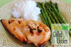 Honey Lime Grilled Chicken - This recipe is great for those times when you just don't know what to fix for supper and you don't want the fuss of a big meal and need something that requires very few ingredients and not much hands-on prep time.  Just grab some honey from your pantry, chicken breasts from the fridge, a lime…Wait, what? No limes? No problem! Essential oils have got you covered!  #oil  #essentialoil #doterra #naturaloilmom