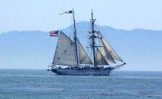 Off the Pedro Shore - Catalina Island behind - San Pedro, California by Casey N