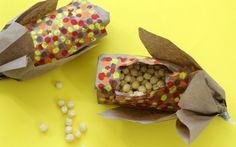 "paper bag ""corn"" snack favors for Thanksgiving"