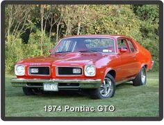 1974 Pontiac GTO  Refrigerator / Tool Box  Magnet Man Cave Gift Item