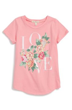 Tucker + Tate 'Love' Graphic Tee (Big Girls)