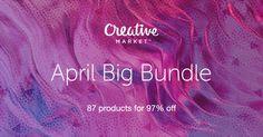 Check out April Big Bundle on Creative Market