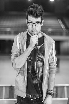 There's really nothing better than a music nerd who looks like this, in terms of music nerds that is. Dan Smith, Bastille<<<yes Dan Smith, Lollapalooza, Kyle Simmons, The Wombats, Bae, Vampire Weekend, Bad Blood, I Love Music, Imagine Dragons