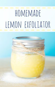 Homemade Lemon Exfoliator.