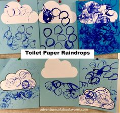 """"""" by Wendy Cheyette Lewison""""Rain"""" by Manya Stojic""""The Big Storm"""" by Nancy Tafuri Windshield Wiper This is a fun one to repeat several times … Weather Activities Preschool, Toddler Learning Activities, Preschool Crafts, Rain Crafts, Cardboard Tubes, Cardboard Playhouse, Cardboard Crafts, Toilet Paper Art, Cardboard Fireplace"""