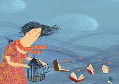 Es primavera: dejemos volar los libros (Ilustración de Susan Sontag)