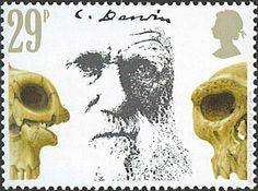 Centenario de la muerte de Charles Darwin. Cráneos prehistóricos.