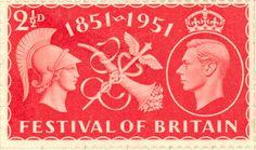British postage stamp - Festival of Britain.