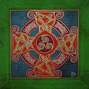 Celtic Circle silk painting