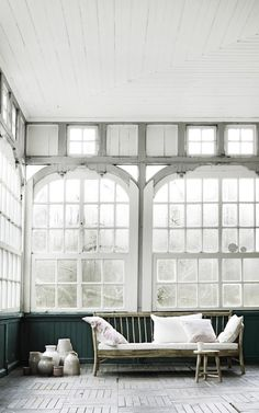 love the windows, even on a dreary day.  B L O O D A N D C H A M P A G N E . C O M: