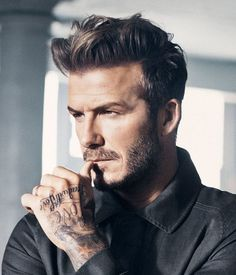 Style it like Beckham for 2015. #menshairtrends #slickhair #DavidBeckham