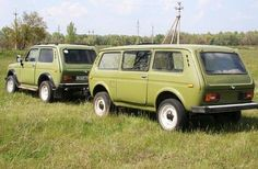 Lada Niva and trailer