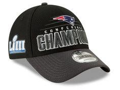 New England Patriots New Era NFL Men s Super Bowl LIII Conference Champion  Locker Room 9FORTY Cap 645a29c3c