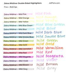 Zebra Mildliner 15 Colour Available Highlighter Double Sided Marker Pen , Zebra Mildliner, Planning School, Journaling, Highlighter Pen, Passion Planner, Jet Pens, Pretty Notes, School Notes, Marker Pen